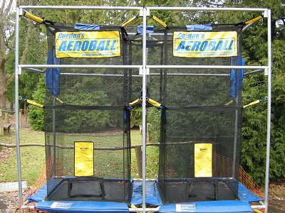 Aeroball is great fun but I think the tip to shooting is to jump with your legs to the side !