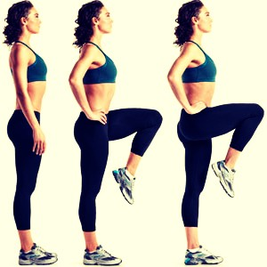 Do high knees for 5 minutes