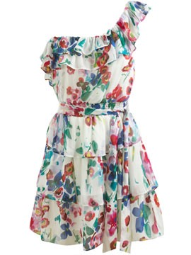 A simple flower 1 strap dress that will cheer up everybody's spirit