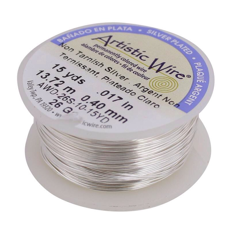 You'll need some artistic wire. Measure the wire around your head, and cut it to fit. Tie off the ends and cut off the extra strands.