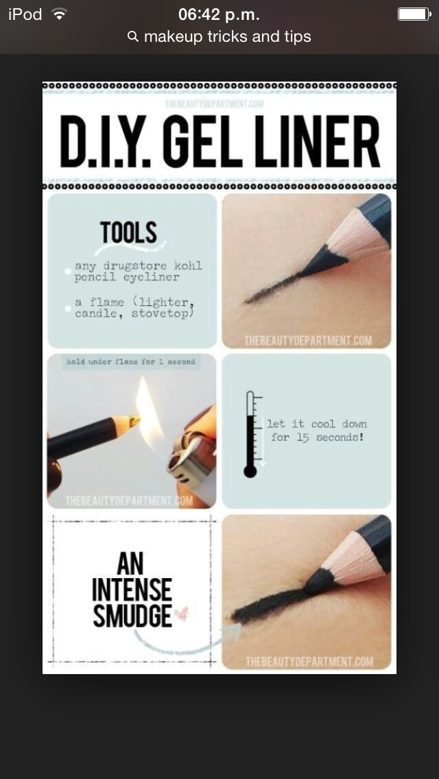 If your eyeliner is getting dry and isn't working right use a flame to get it back to normally ( just wait 15-20 seconds before using it again)