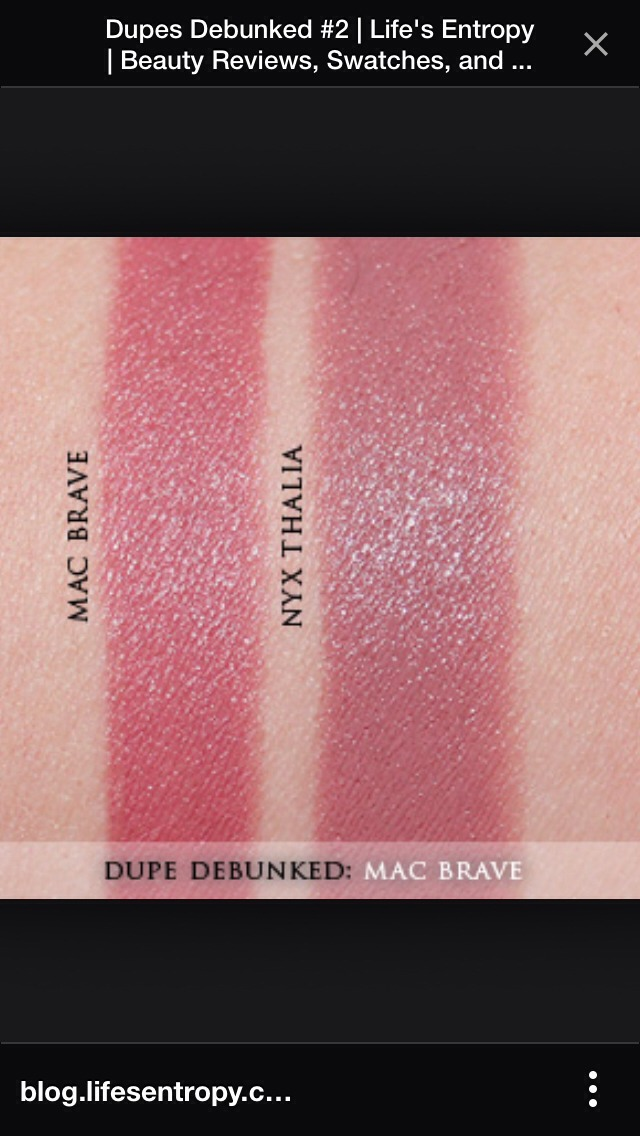 Kylie apparently wears Mac's Brave Lipstick...but here is a dupe!
