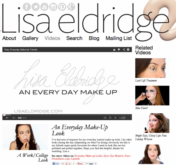"1️⃣2️⃣Lisa Eldridge: ""the makeup artist who has perfected the fresh-face, flawless-makeup look, Lisa shares quick, useful videos with readers on the most commonly asked questions in the beauty world and Lisa leaves no question unanswered."""