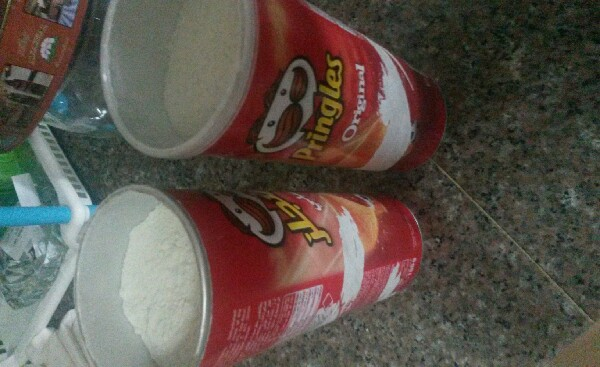 use empty Pringles boxes to store things like flour