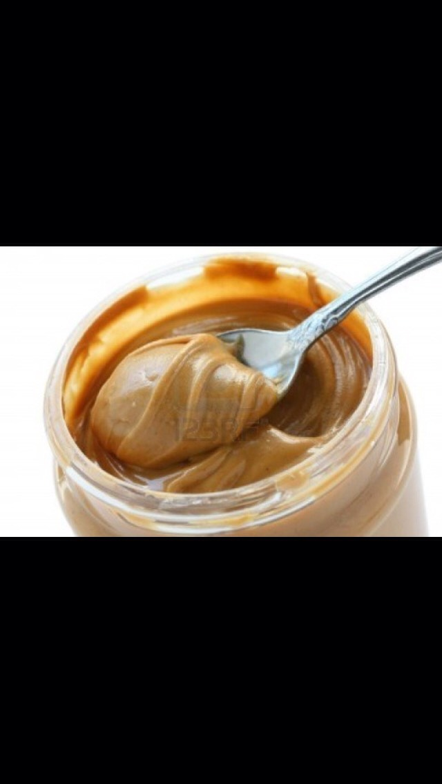Next add ur peanut butter, but not too much or the mixture will get gooey and sticky