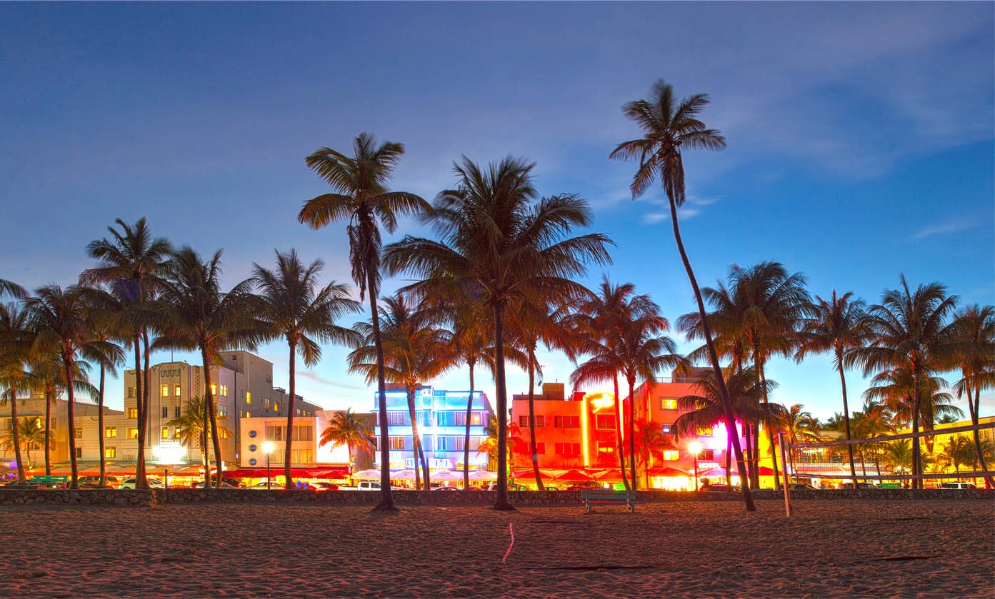 Miami beach hotels and stores