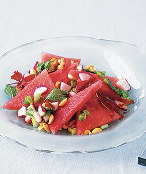 Watermelon  Get a huge dose of antioxidants and vitamin C from watermelon- who can resist such a sweet, refreshing food?