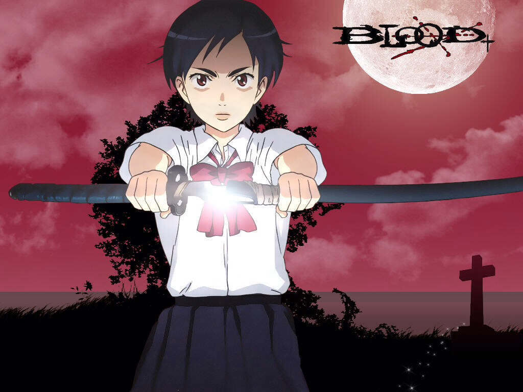 Blood+: a young women discovers she has the ability to wield a sword that uses her blood to combat vampires.