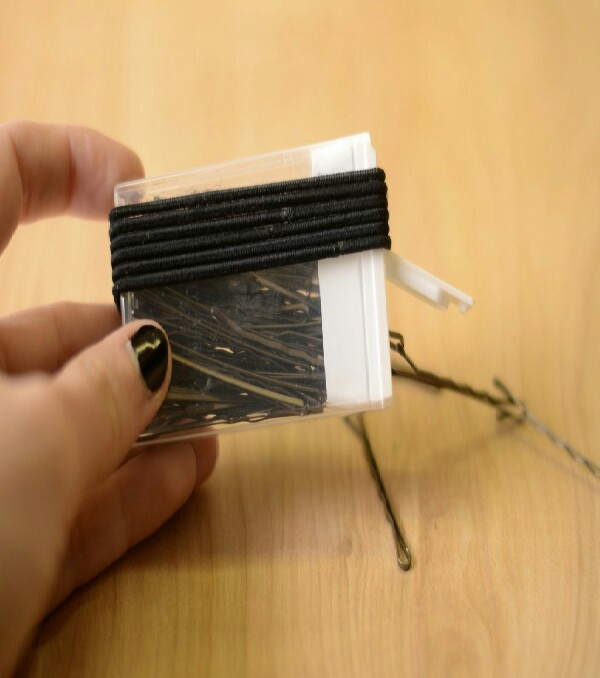 bobby pins and hair elastics