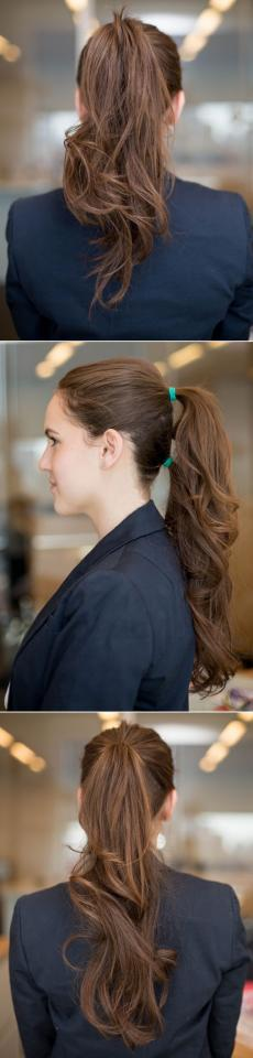 10. Fake a longer 'tail by stacking two or three ponytails on top of each other.