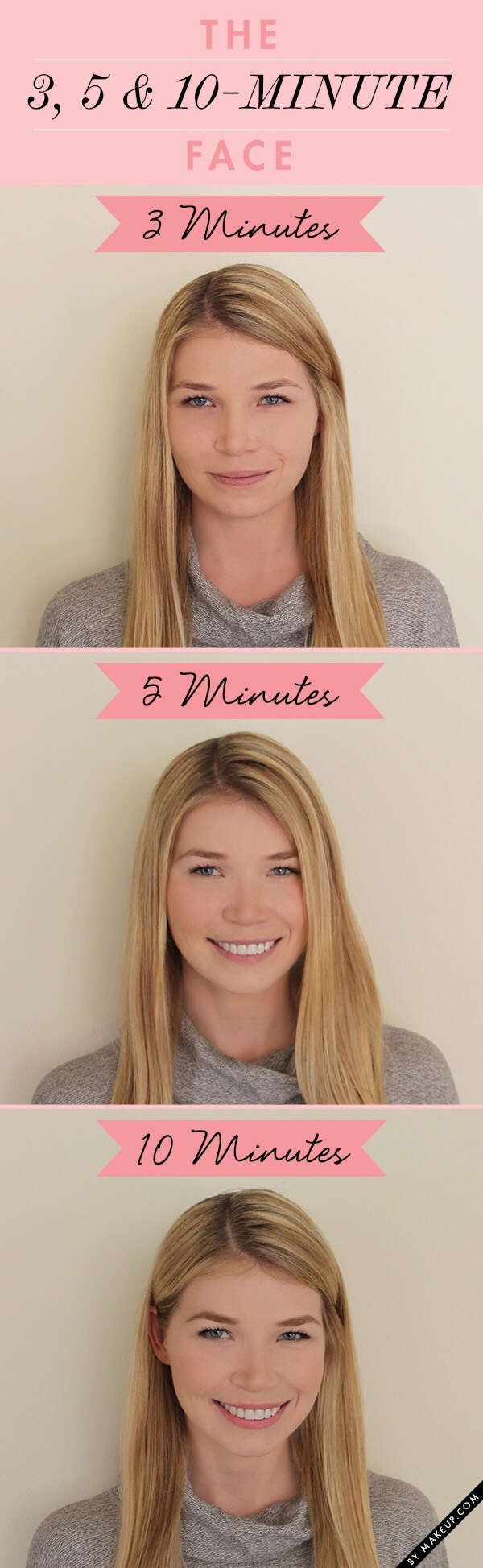 Go to makeup.com for these super-simple makeup routines.