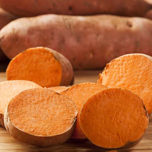 Replace potatoes with yams. Yams have more natural protein and less starch than potatoes. They are also a natural testosterone booster. Tasty and sweet!