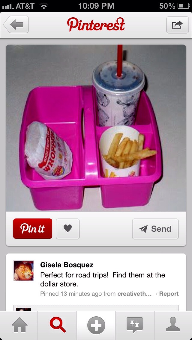 Such a great way to keep your child's fries or drink from spilling😉