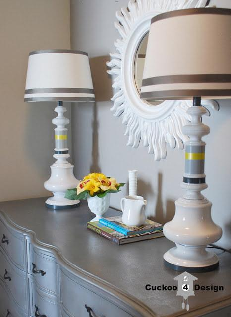 12. Paint your ugly thrift store lamps.