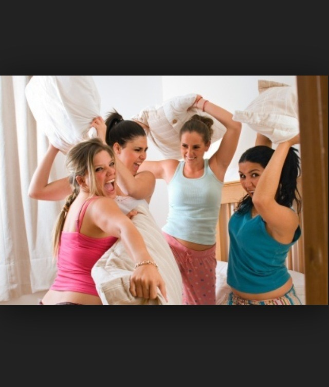 I know it's old and kinda cheesy, but pillow fights and other games like truth or dare.