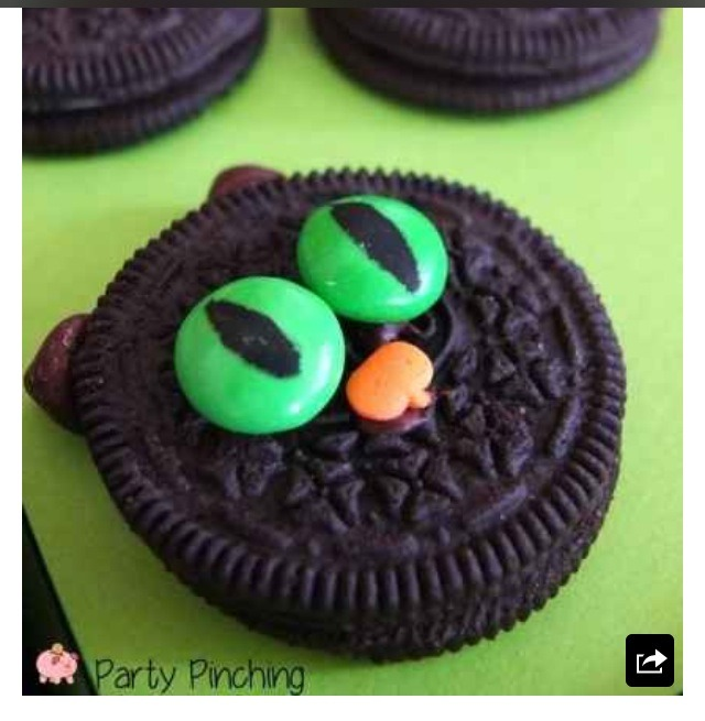 Edible marker works best for the eyes