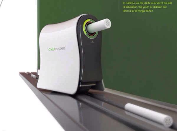 9. A chalkboard trolling gadget that converts chalk dust to new sticks of chalk.