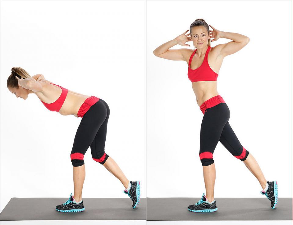Circuit Two: Rotating Deadlift  Reps: 12, each side