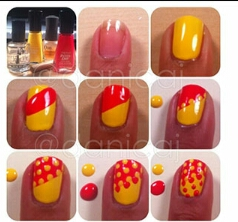 here is the yellow and orange polka dots which is the right wat to go into summer or even any ordinary day❤