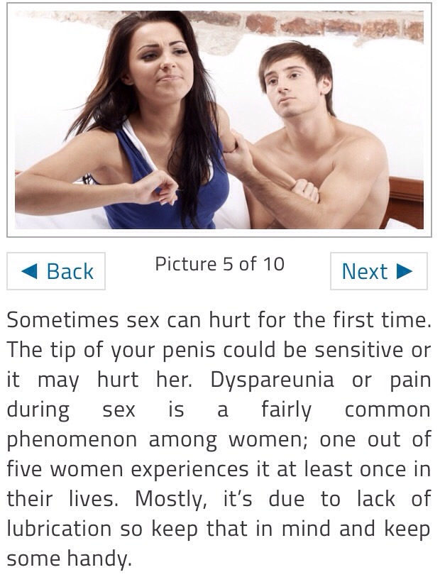Tips for mans first sex