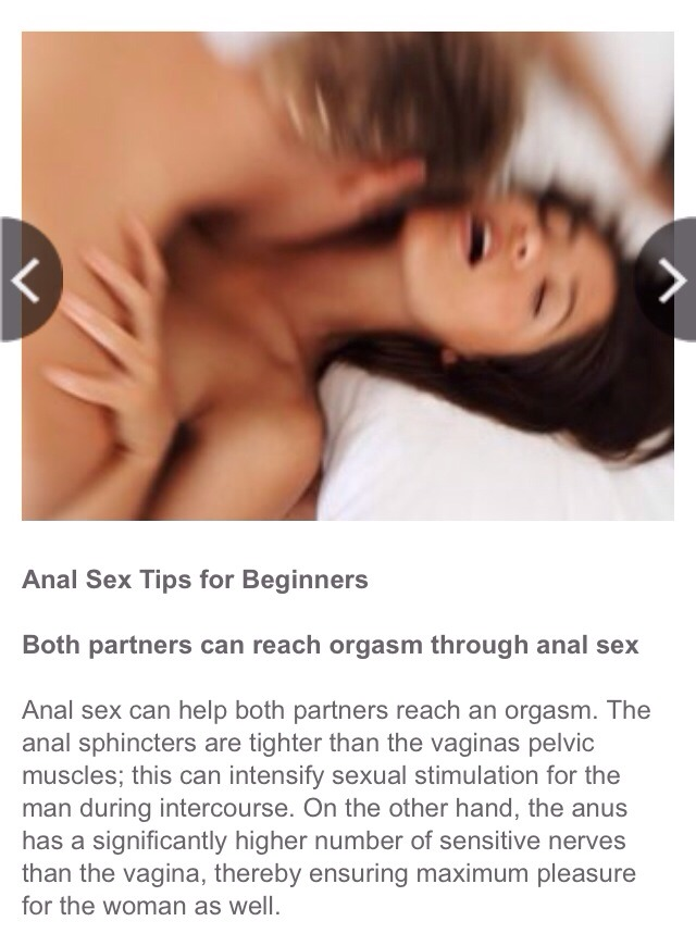 Sex advice for beginners apologise