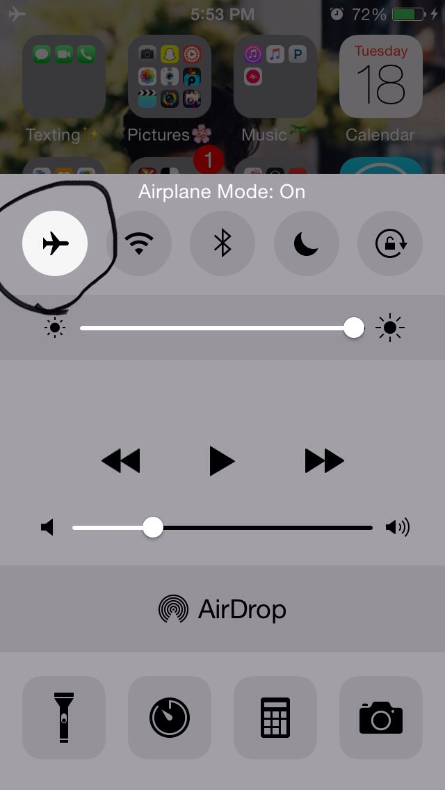 Then put it on airplane mode and it will charge faster😊