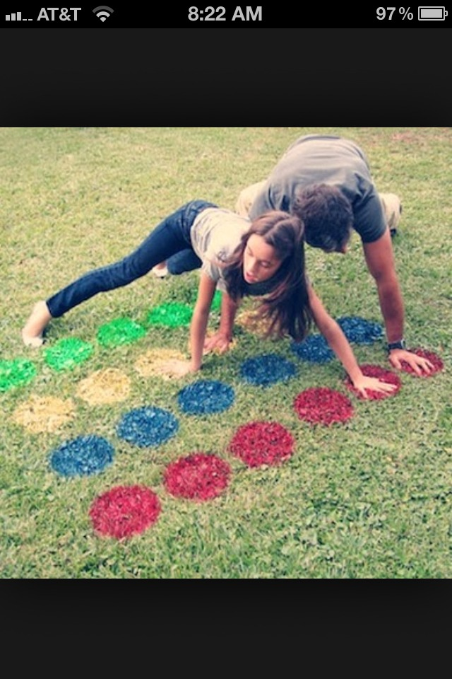 1.) MAKE TWISTER!! Spray paint little circles outside for your little ones!