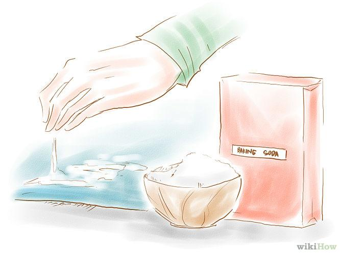 Sprinkle the area with baking soda for extra odor neutralizing power.