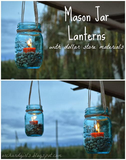 Making these stunning mason jar lanterns. I love how these look on the porch.  this project may need to move to the top of my to-do list!