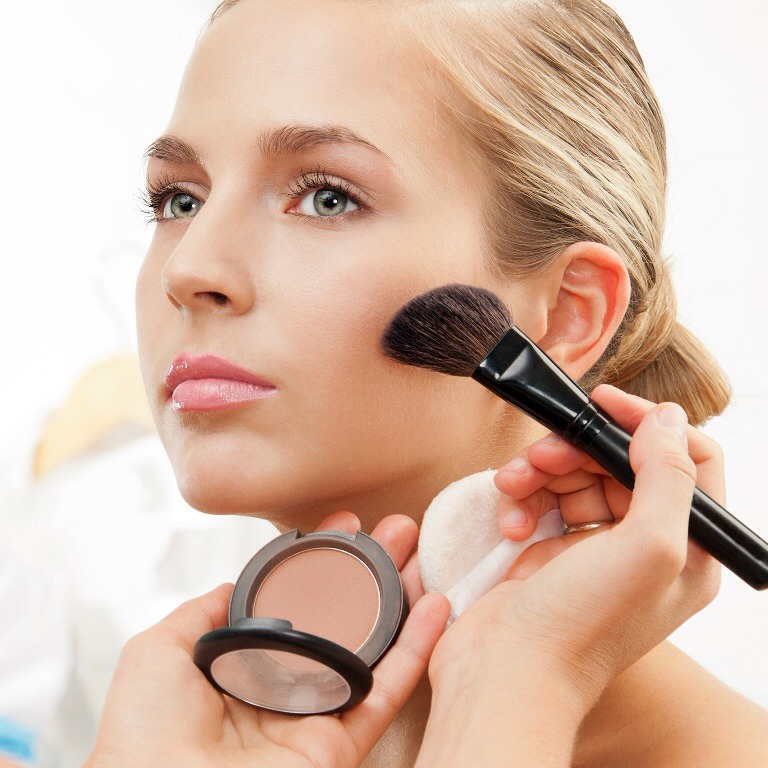 Tip No. 2 - After your foundation brush the baby powder all over your face to set it. It's not as caking as many face powders and is so much cheaper!