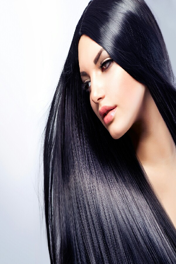 Make hair shiny by rinsing it woth cold water after normal wash this closes the hairs cuticles.