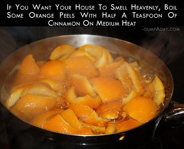 Musely How to make the house smell like cinnamon