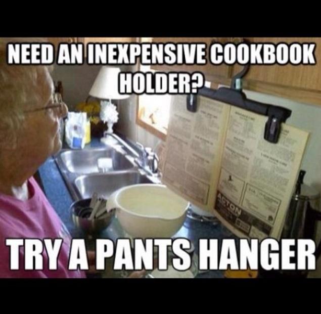 Instant cook book holder!