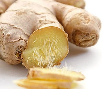 Diced up full ginger root