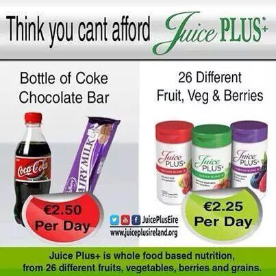 Capsules are made up of 26 fruit veg & berries