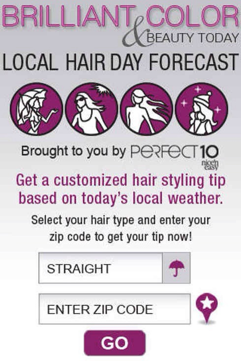 14. Hair Cast gives you hairstyle advice based on the weather in your area.