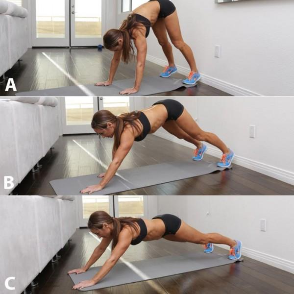 This is the ultimate core exercise, as you're using your own bodyweight to not only work your core but also every other muscle in your body throughout the entire movement. Recommended: Sets: 1 to 3 Reps: 5 to 10