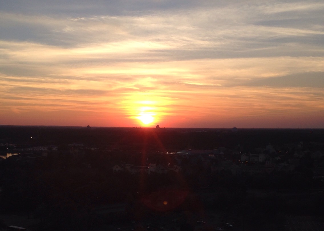 The sunset from the hotel I stayed at, while I was at disney🌞
