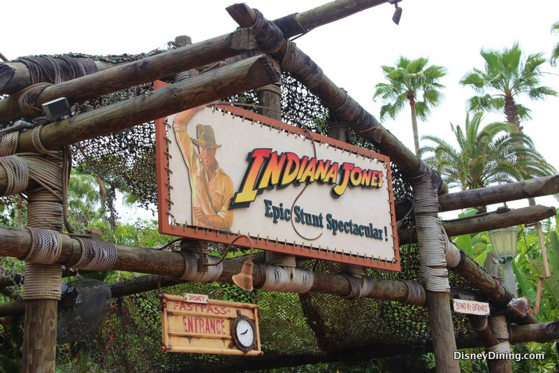 When you're in line for Indiana Jones, you go past a well. If you pull on the rope, you'll hear someone down in the well!