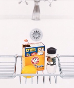 Rub tub stains away. Create a paste mad up of equal parts baking soda and cream of tartar and a little lemon juice. Let sit for 30 minutes, then rinse.