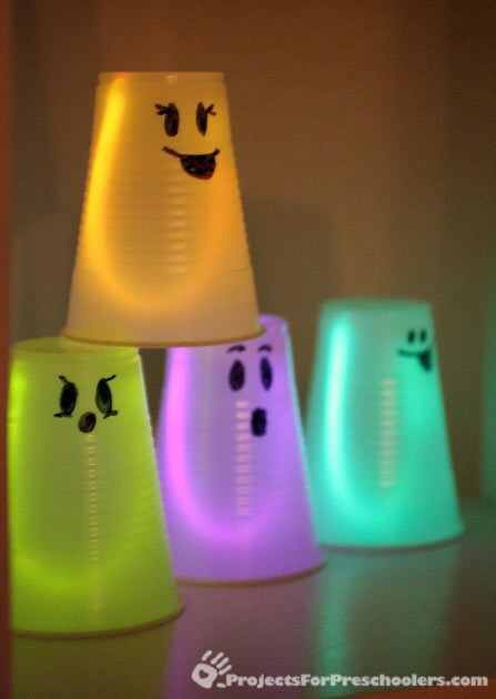 Glowing ghost cups