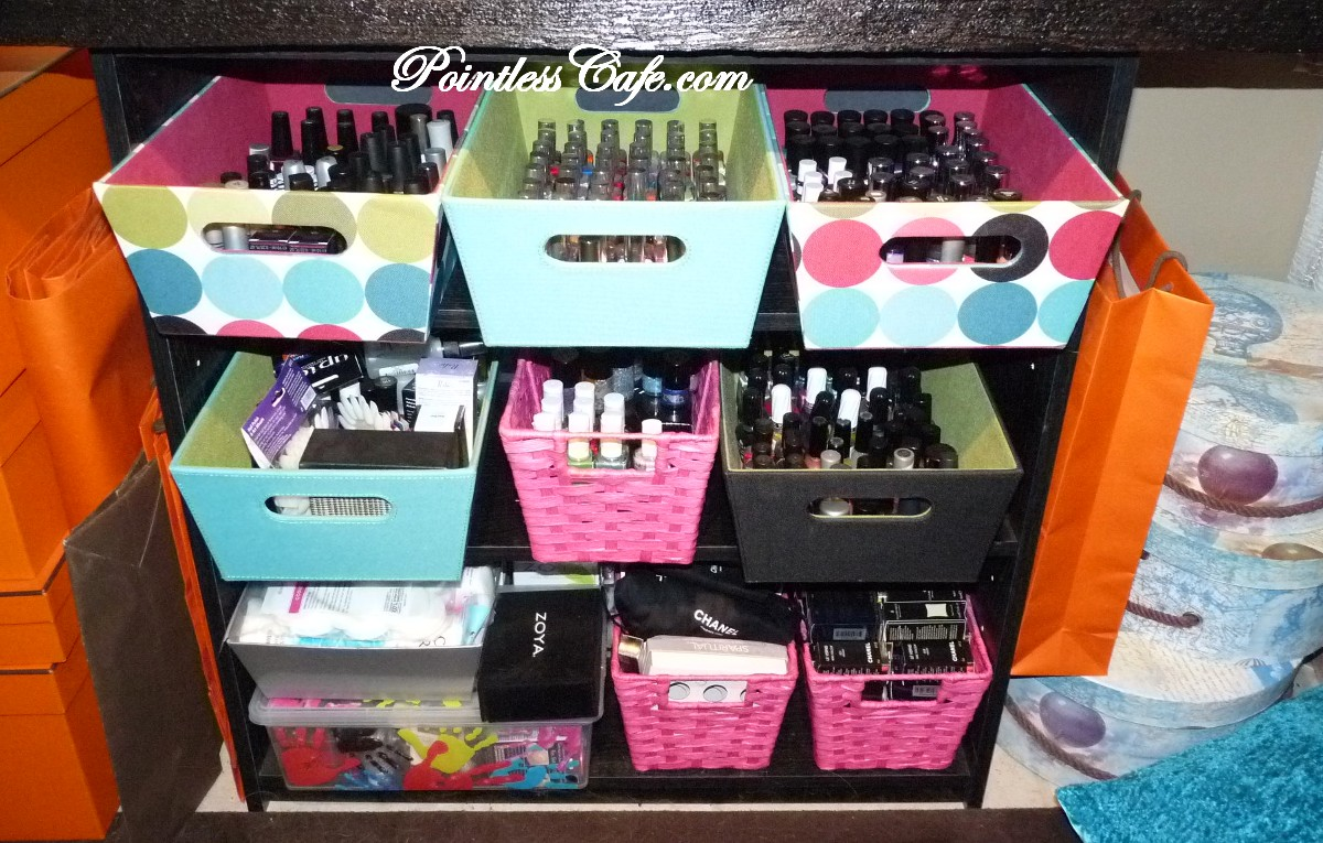 great simple ways to store nail polish
