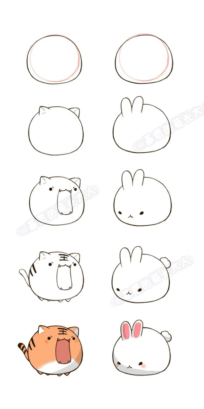 Bunny and kitty tutorial!!