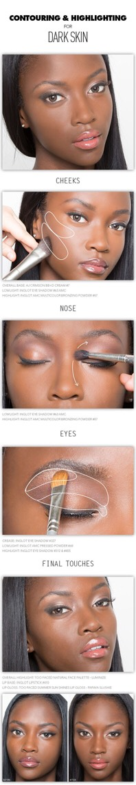 14. Here is a great HAC method if you have dark skin. This girl looks flawless!