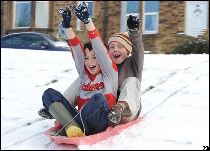 5.) sledding! Get a sled or find a big enough piece of plastic, it will work.