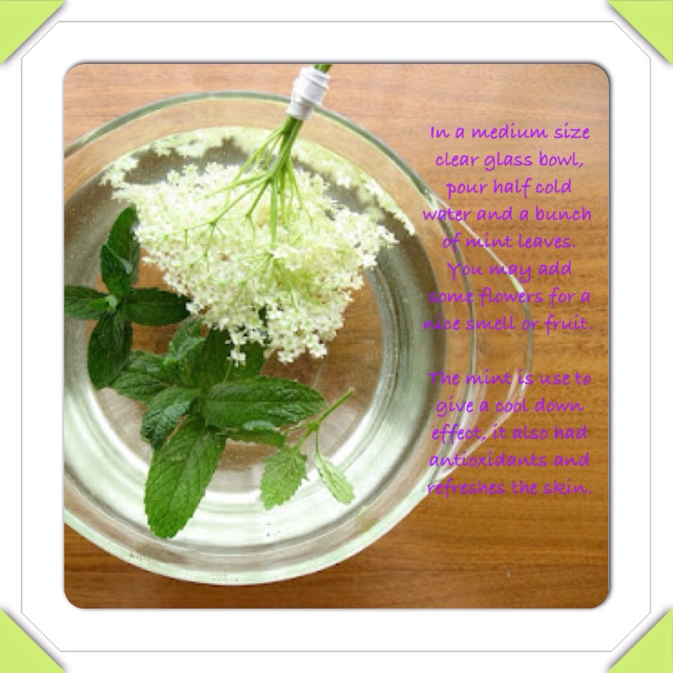 Step 3. Once finished clean your face with the mint water. This will close your pores and cool downs your face.