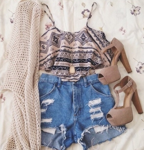 Nice summer outfit with a cardigan incase it gets cold