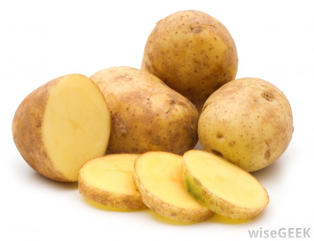 Potatoes can basically lighten many parts of your body. All you do is take the juice and put it under your armpits. Let it sit a while, and it should be light. And they can also lighten dark circles. Take the juice or a thin slice and leave it under your eyes for 5 minutes then wash off