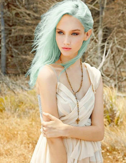 Sea Foam: this is already such a pretty color, and would be great for channeling your inner mermaid. Again, ombre or highlighting would work for a softer look.