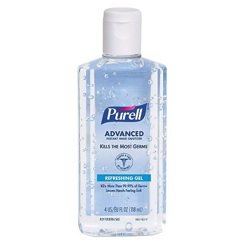 3) Hand sanitizer is a must have! You never know if the bathroom won't have soap or you touch something under a desk!